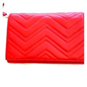 Red crossbody or clutch purse